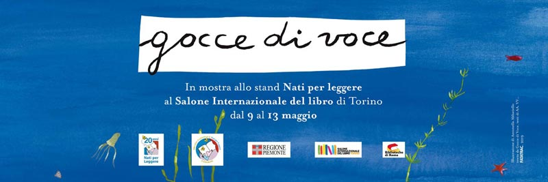Gocce di voce in mostra  al Salone internazionale del libro di Torino 2019
