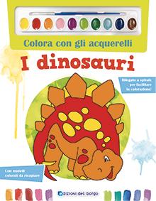 Colora con gli acquerelli- I dinosauri