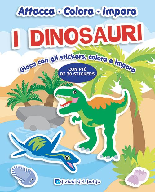 Attacca colora impara - I dinosauri