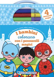 I bambini colorano con i pennarelli magici