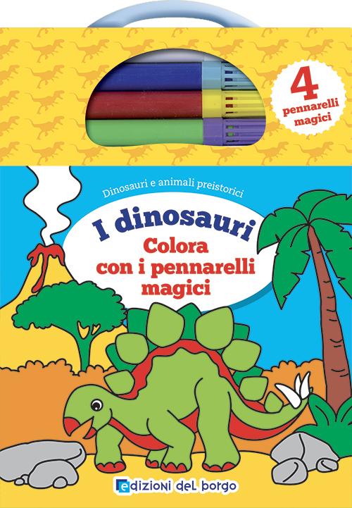 I dinosauri<br />Colorare con i pennarelli magici